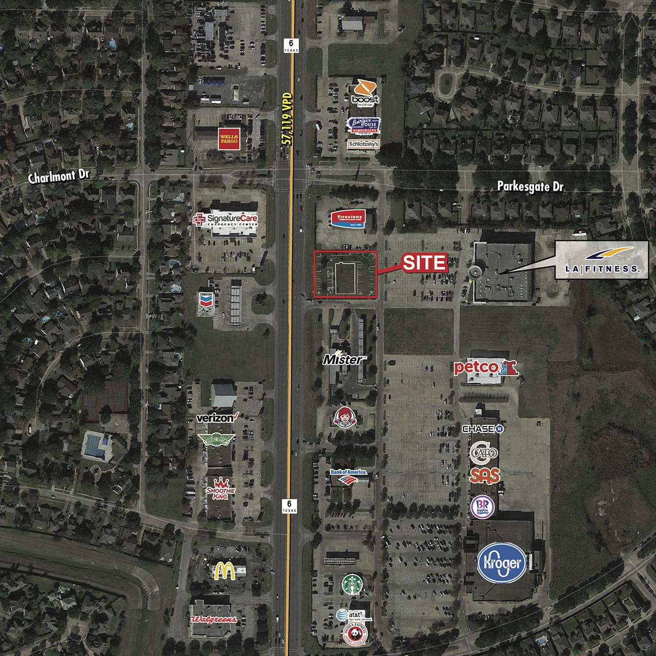 7,500 SF Shopping Center or Pad Site Available featured image